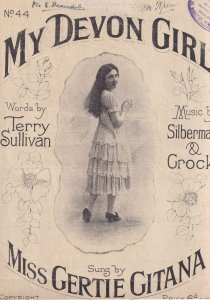 My Devon Girl vs Japan Chinese Women Miss Gertie Gitana Olde Sheet Music