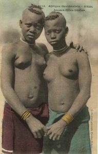 CPA AK Senegal Ethnic Nude Fortier - 1214. Jeunes filles Diolas (71213)