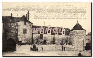 Old Postcard Dourdan Le Chateau Fort main entrance