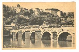 Namur, Pont de Jambes et Citadelle, BELGIUM, 1910-30s