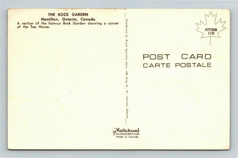 Hamilton Ontario-Canada, The Rock Garden, Tea House, Chrome Postcard