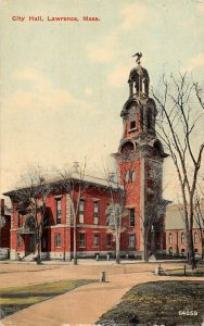 LPS88 Lawrence Massachusetts City Hall Vintage Postcard