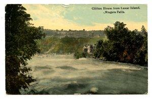 Canada - Ontario, Niagara Falls. The Clifton House from Lunar Island