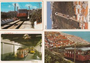 Coimbra Nazare Portugal Trams Tramway 4x Postcard s