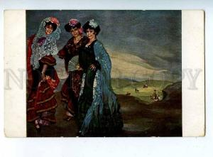 203640 Spain BELLE Dancers three cousins by ZULOAGA old JUGEND