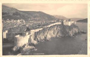 Dubrovnik Croatia Fort Birds Eye View Real Photo Antique Postcard J77868