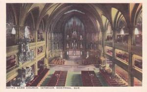 Montreal QC, Quebec, Canada - Notre Dame Church Interior