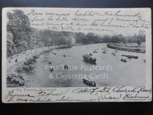 London: The Thames, Richmond c1906 - (PM) Richmond cds