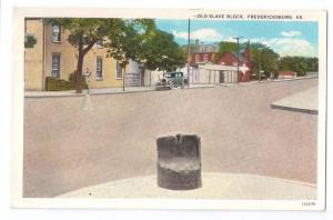 Fredericksburg VA Old Slave Block Virginia Postcard