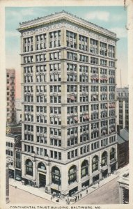BALTIMORE , Maryland,1910s ; Continental Trust Building