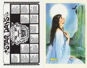 Misty 1978 Special Witch & Horoscope 2x Horror Comic Postcard