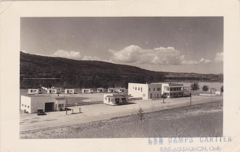 RP: LAC-AU-SAUMON , Quebec , Canada , 30-40s; Gas station & Camps Cartter ,