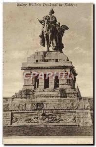 Old Postcard Kaiser Wilhelm Denkmal in Koblenz
