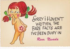 Nevada Reno Humour Naked Girl Sorry I Haven't Written