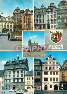 Modern Postcard Panorama Plzen Praha