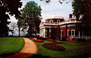 Virginia Charlottesville Monnticello West Front Home Of Thomas Jefferson