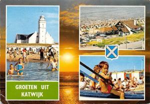 Netherlands Groeten uit Katwijk Church Eglise Beach Auto Vintage Cars Beach