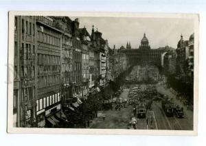 235749 CZECH PRAHA Vaclavcke Namesti Vintage photo postcard