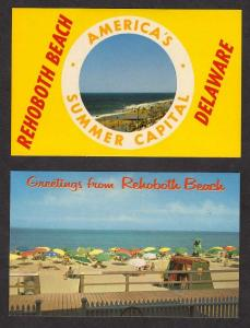 DE Lot 2 Rehoboth Beach DELAWARE Postcards