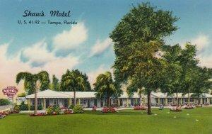 TAMPA, Florida, 1940-60s; Shaw's Motel, U.S. 41-92