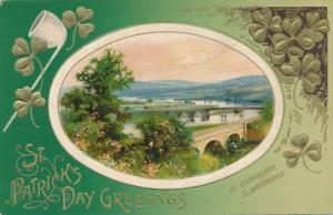 St Patrick's Day Greetings - Cappaquin, Co. Waterford Scene - DB