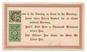 Motto Friendship Poem Postcard Illuminated Letter Franz Huld