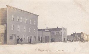 RP: DUNDURN , Saskatchewan , Canada , PU-1907; Main Street