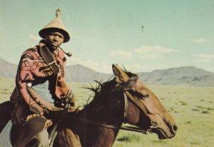 Mosotho Horseman Tioutle Lesotho South Africa Postcard