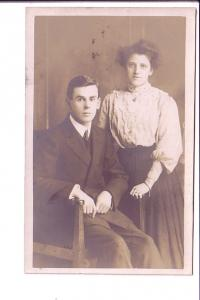 Real Photo, Couple, Formal Portrait, Great Britain