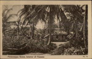 Panama - Interior - Native Hut c1910 Postcard ARISTA