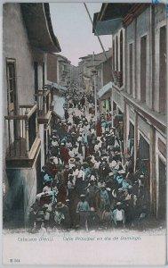 PERU - POSTAL ANTIGUA vintage postcard - CATACAOS