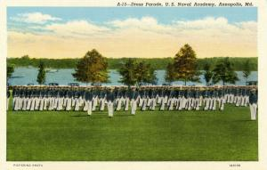 MD - Annapolis. U.S. Naval Academy, Dress Parade (Military)