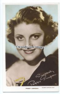 us0065 - Film Actress - Peggy Simpson - postcard
