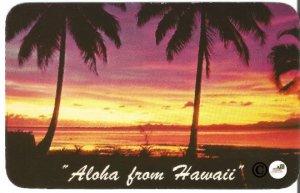 Vintage Postcard,Tropical Sunset Hawaiian Views Aloha from Hawaii Rounded Edges