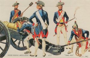 Hesse Hanau Artillery Company 1777 Canada Military Uniform Postcard