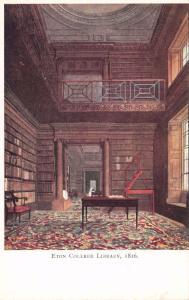 Vintage Postcard Eton College Library (1816) #E