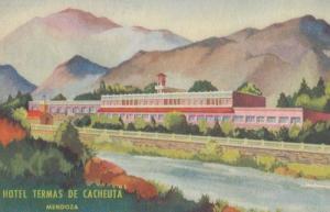 Hotel Termas De Cacheuta Argentina Mendoza Old Postcard