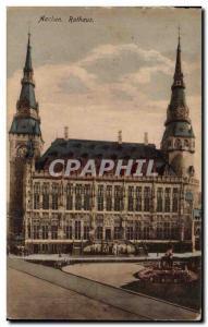 Old Postcard Rathaus Aachen
