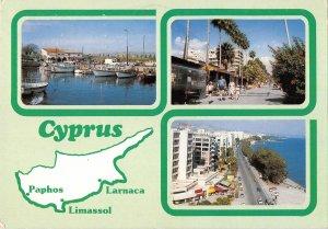 B108838 Cyprus Zypern Harbour Boats Bateaux Port Promenade Hotel