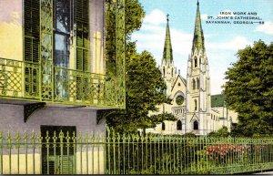 Georgia Savannah Iron Work and St John's Cathedral