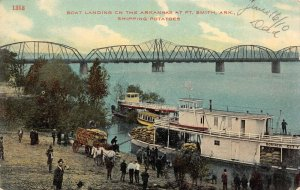 LPA46 Ft. Smith  Arkansas Postcard Riverboat Shipping Potatoes