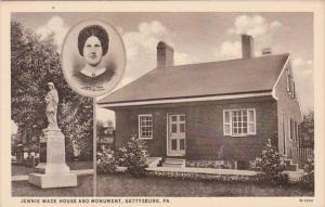 Pennsylvania Gettysburg Jennie Wade House and Monument Curteich