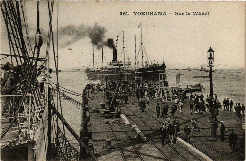 PC CPA YOKOHAMA Sur le Wharf JAPAN (a8310)