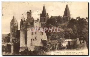 Old Postcard The Royal Castle Loches Agnes Sorel And The Collegiate Sant'Orso