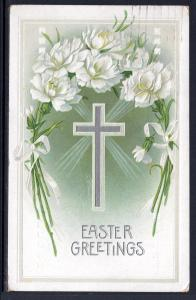 Easter Greetings,Carnations,Cross