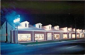 1950s Furniture Store Neon Lights Night Whittier California Panorama 6741