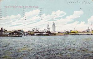 View Of Coney Island From The Ocean Coney Island New York 1908