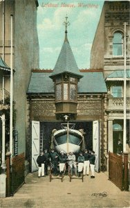 Artist impression Lifeboat House 1909 Worthing UK Postcard 20-2073