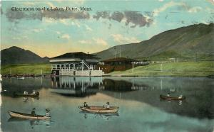 Butte Montana~Clearmont On The Lakes~Rowboats & Canoew~c1910 Postcard