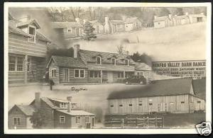 1941 RENFRO VALLEY DANCE BARN Real Photo Postcard KY